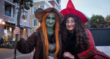Halloween in de binnenstad van Den Helder