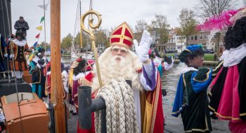 Sinterklaas is aangekomen in Den Helder